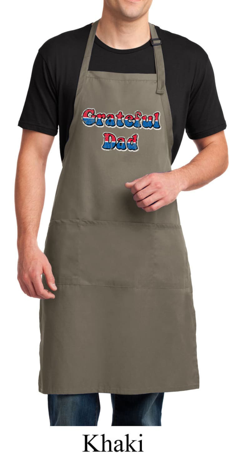 Grateful American Dad Full Length Apron with Pockets AMERICANDAD-A700
