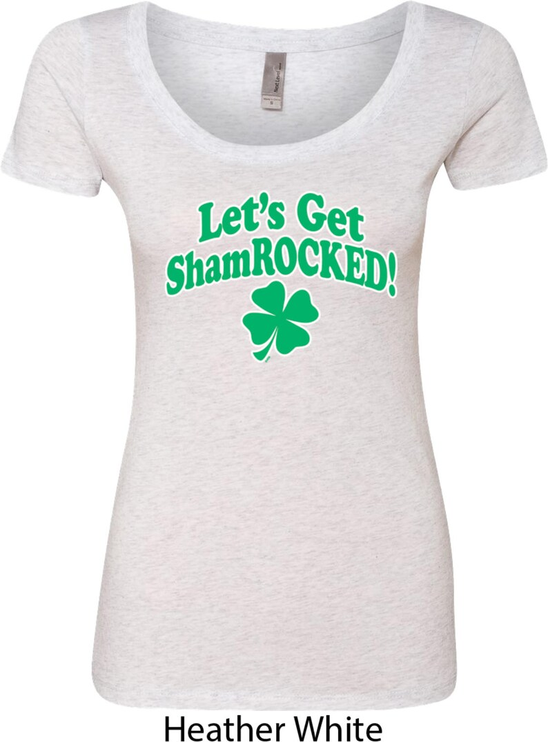 7b514c03 Ladies St Patrick's Day Shirt Let's Get Shamrocked | Etsy