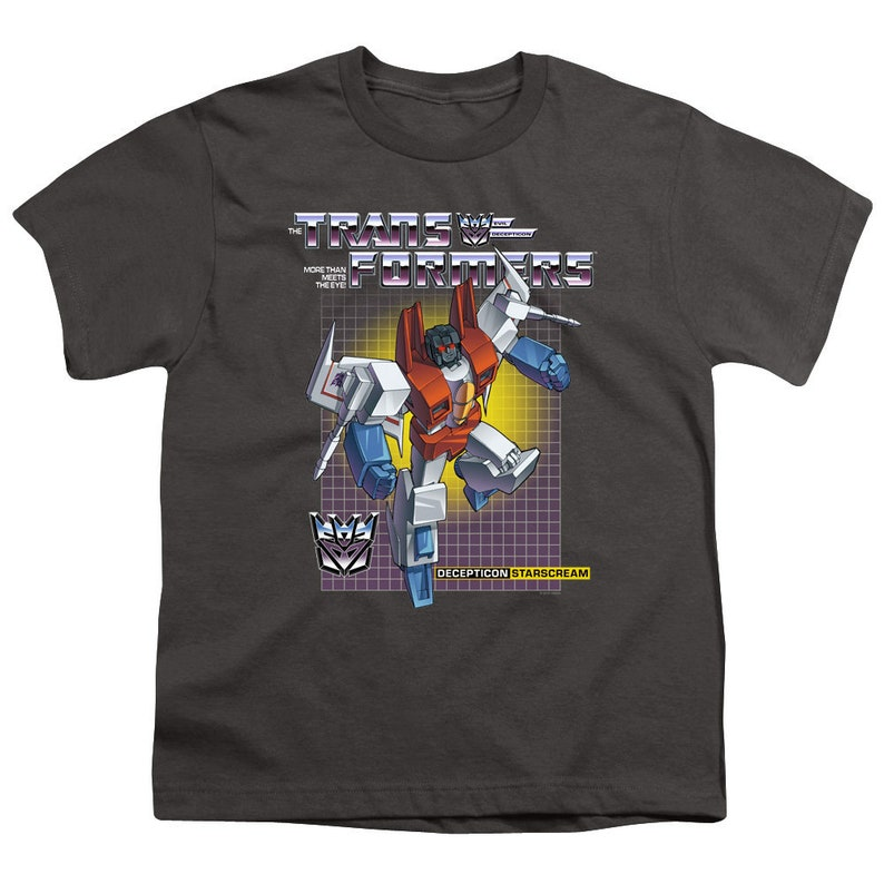 Transformers Starscream Kid/'s Charcoal T-Shirts