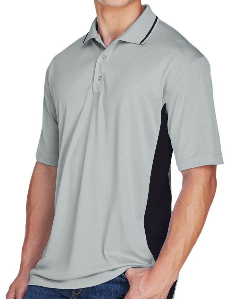 Shelby Blue and Red Pocket Print Men/'s Ford Cool /& Dry Two Tone Polo Shirt 18150EL9-PP-8406