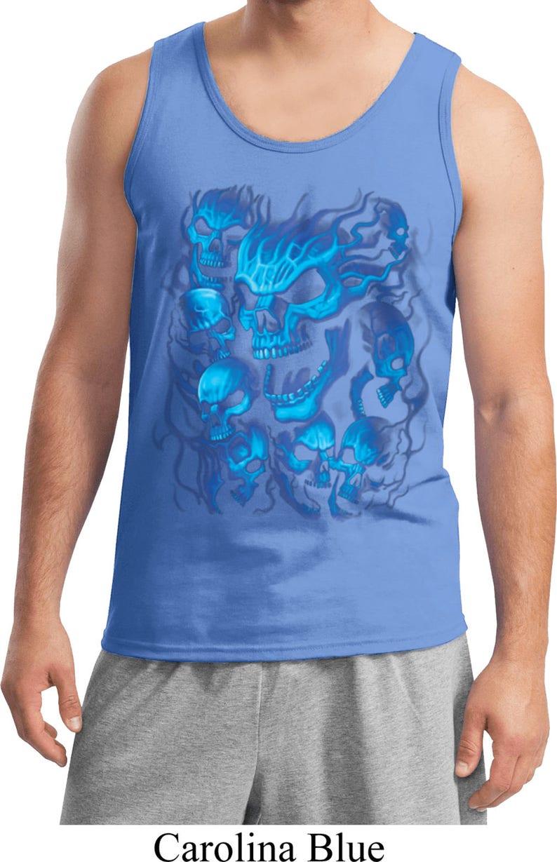 Screaming Blue Skulls Men/'s Tank Top 18634D0-2200