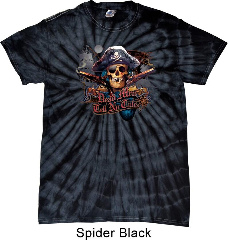 7104a2c6ca6da Men s Pirate Shirt Tell No Tales Pirate Spider Tie Dye Tee