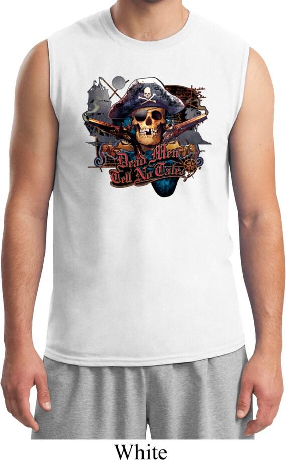 b96bae6ddf233 Men s Pirate Shirt Tell No Tales Pirate Muscle Tee T-Shirt