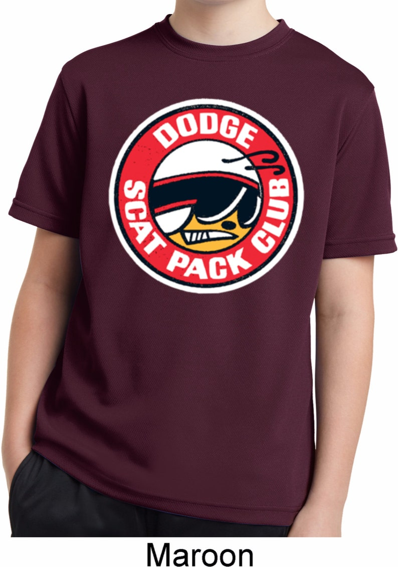Dodge Scat Pack Club Kid/'s Moisture Wicking Tee T-Shirt 20339HD2-YST340