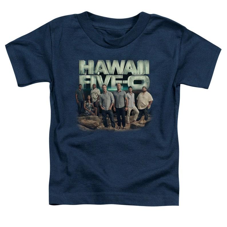 Hawaii Five-0 Cast Kid/'s Navy T-Shirts