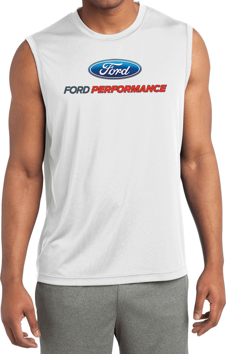 Ford Performance Parts Men/'s Ford Sleeveless Moisture Wicking Tee T-Shirt 20859HD4-ST352