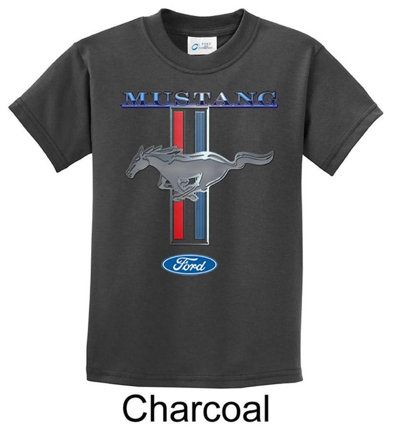 f0e5ed4af Dziecięca Koszulka Ford Mustang naszywka tee T-shirt | Etsy