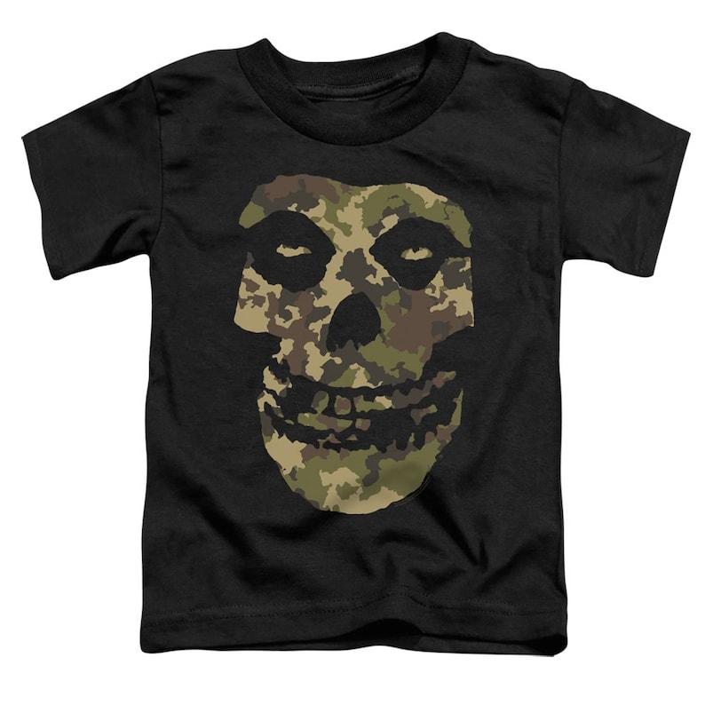Misfits Camo Skull Kid/'s Black T-Shirts