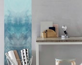 Blue Removable Wallpaper / Ombre Self Adhesive Wallpaper / Nursery Wall Mural / watercolor Wall sticker- CM055