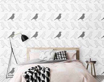 Peel and Stick Little bird print Removable Self-adhesive vinyl Wallpaper - CM032