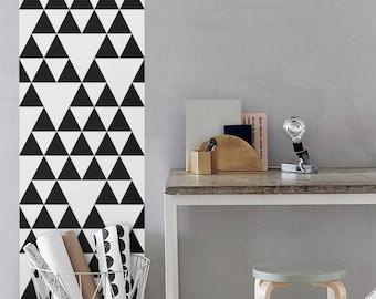 Triangle Geometric Pattern Wallpaper / Simple Removable Wallpaper / Geometric Wall Mural / Geometric Wallpaper- CM006