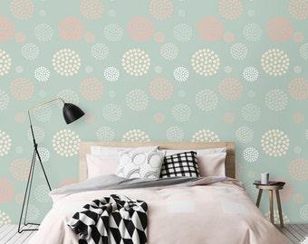 Circle Polka dot pattern Self-adhesive vinyl Wallpaper - CM046