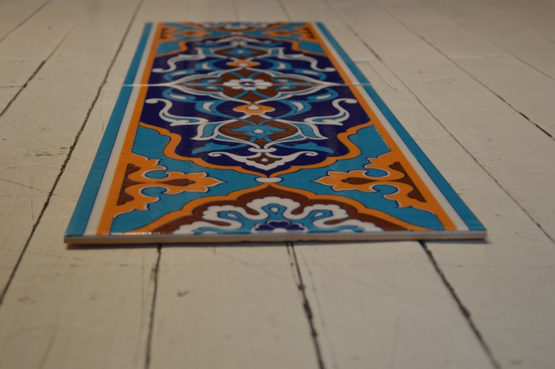 Turkish iznik Handmade tile Wall decor 2 pieces each piece ...