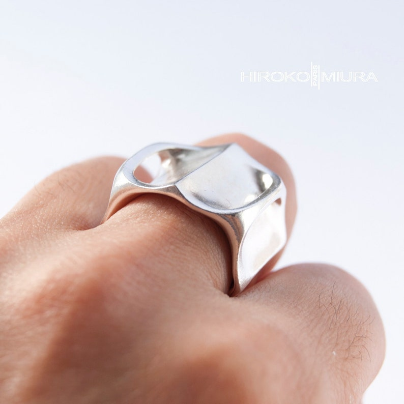 Bague KABUTO argent  silver Création HIROKO MIURA image 0