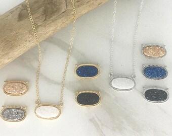 Druzy Gemstone Pendant Natural Designer Pendant  Druzy Slice Pendant  Beautiful Pendant  Druzy Fashion Jewellery Gold Edge Pendant