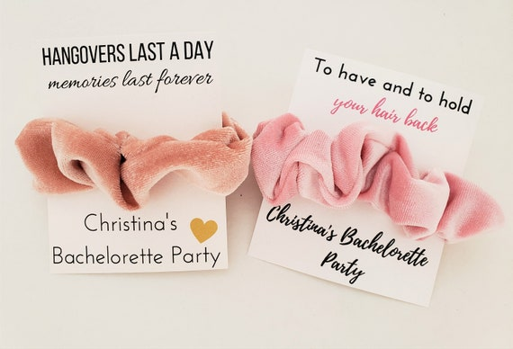 hair tie favours Bachelorette favours wedding favours girl party favours custom party favours