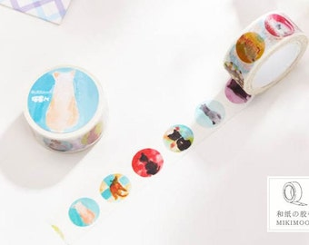washi tape , masking tape (cat) 20mmx10m MIKIMOOD WT0190-MD1013
