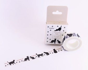 washi tape , masking tape (happy cat) 15mmx10m WT0200-HT1512-872