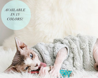 Cat clothes, sphynx clothes, clothes for sphynx, sphynx sweater, sweater for sphynx, cat sweater, clothes for cat, pet clothes, sphynx cat