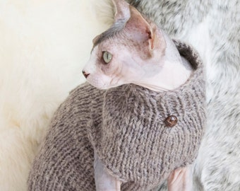 Soft sphynx sweater, soft cat sweater, soft sphynx clothes, soft cat clothes, wool cat clothes, wool cat sweater, wool sphynx sweater