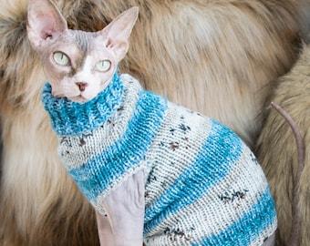 Striped sphynx shirt, soft sphynx shirt, soft cat clothes, sphynx clothes, cat clothes, clothes for sphynx, sweater for sphynx, cat shirt