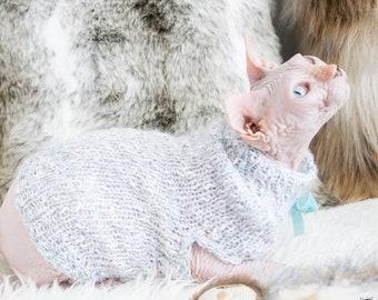 Fluffy cat shirt, fluffy sphynx shirt, cat shirt, sphynx shirt, sweater for cat, sweater for sphynx, sphynx cat clothes, sphynx cat sweater