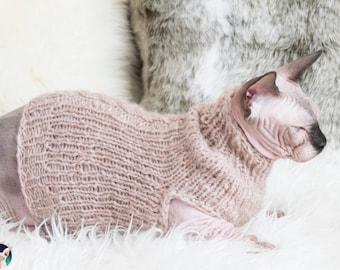 Beige cat clothes, beige cat sweater, beige sphynx sweater, beige sphynx clothes, alpaca cat shirt, alpaca cat sweater, soft cat sweater