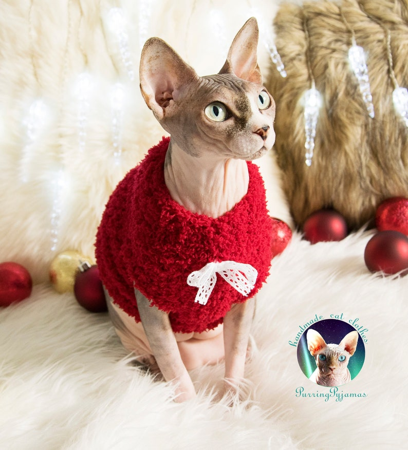 Sphynx sweater christmas cat sweater christmas sphynx image 0