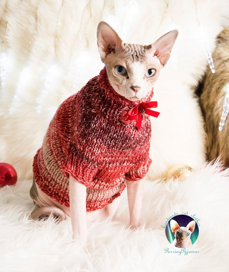 Christmas cat shirt cat lover gift cat gift sphynx gift image 0