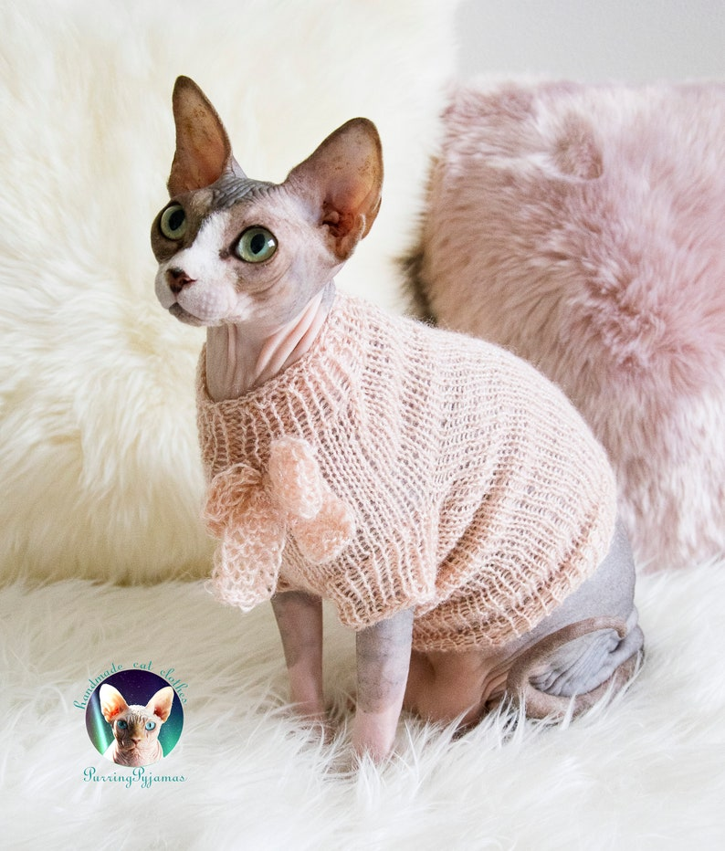 Cat sweater sphynx sweater cat clothes sphynx clothes image 0