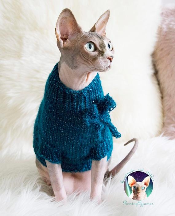 l'atteggiamento migliore d7158 2ff67 Gatto maglia, maglione sphynx, Abiti per gatti, vestiti di sphynx, maglia  per sphynx, maglia per maglia gatto sphynx, morbido maglione, sphynx,  gatto, ...