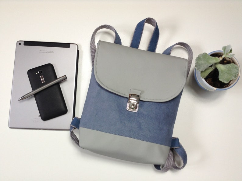 Vegan backpack mini backpack, Laptop backpack Backpack Small backpck READY TO SHIP city backpack Bags and Purses