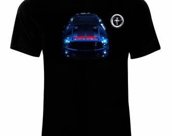 Ford Mustang Shelby GT 500 Men's Printed T-shirt