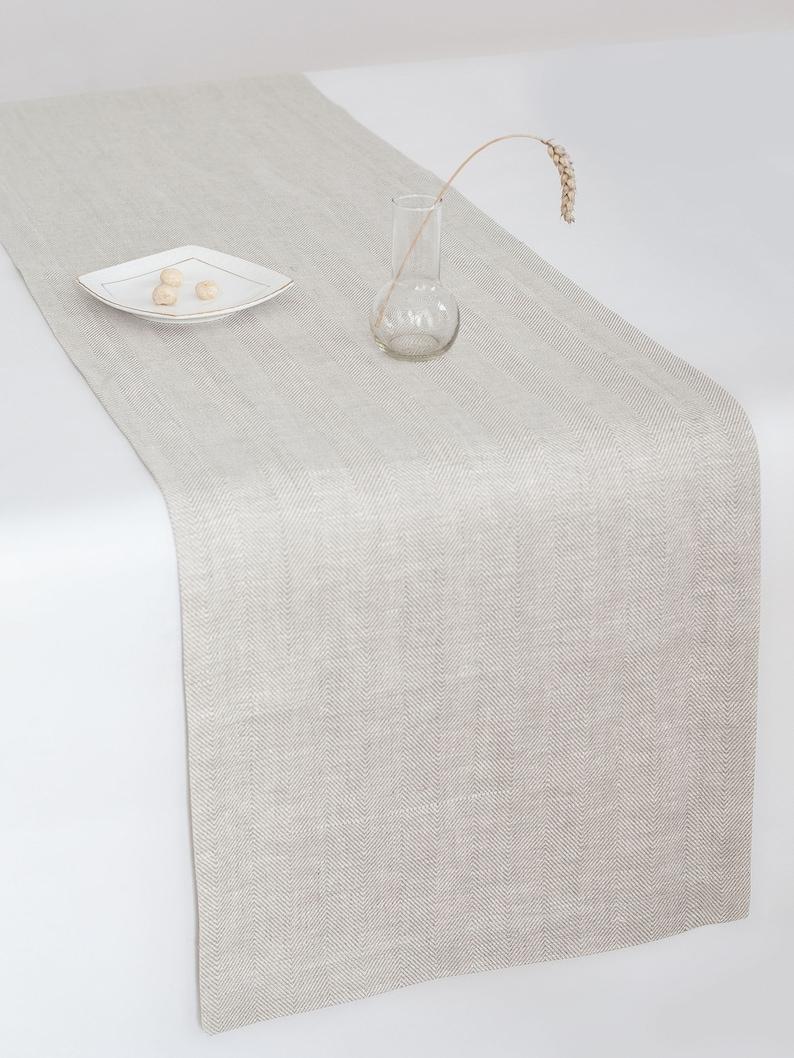 Weißes Leinen Tischläufer Luxus-Tischläufer Hochzeit   Etsy