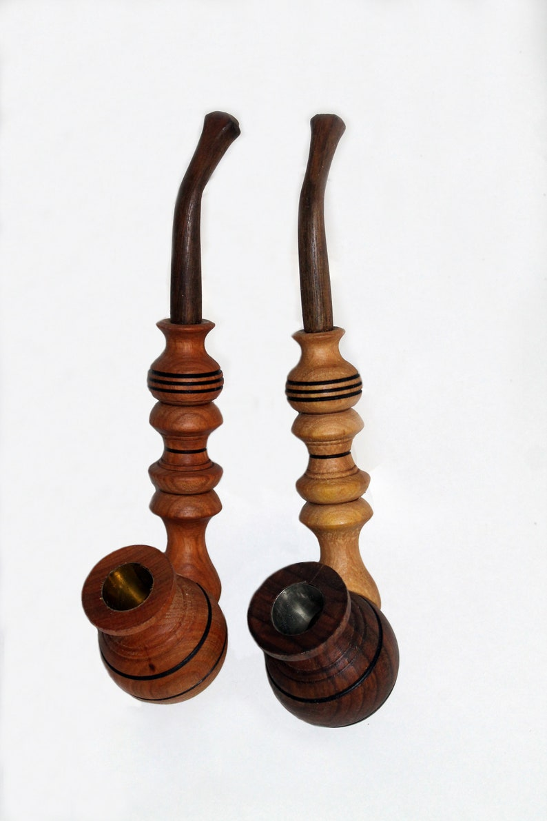 Set Of 2 Wooden Tobacco Pipe Final Sale Wood Carving Wooden Pipes Smoking Pipes Wooden Smoking Pipe Wood Pipe Wood Pipes