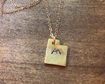 Utah Mountain Necklace