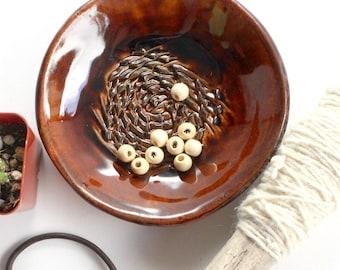 Vintage Ashtray, Stoneware Dish/Plate