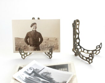 Brass Photo Stand, Small Frame Holder, Art Display