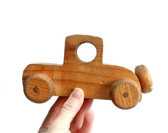 Wooden Toy Car, Primitive Children's Toy