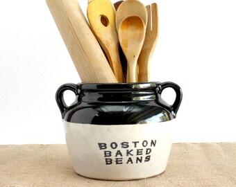 Boston Baked Beans Crock Pot, Vintage Beans Pot, Vintage Kitchen Decor