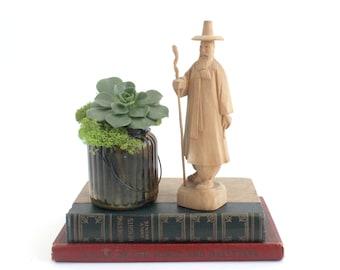 Hand Carved Wooden Figurine, Fine Art Sculpture, Vintage Folk Art