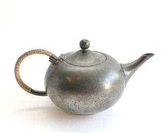 Vintage Pewter Teapot, Mid Century Servingware