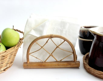 Bamboo Napkin Holder, Letter Holder, Island Style Kitchen Decor
