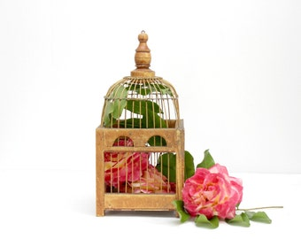 Wood And Metal Birdcage, Wedding Decor