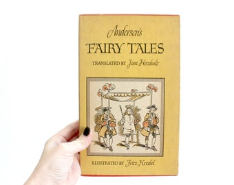 Vintage Children's Book, Hans Christian Andersen Fairy Tales, 1942 Edition