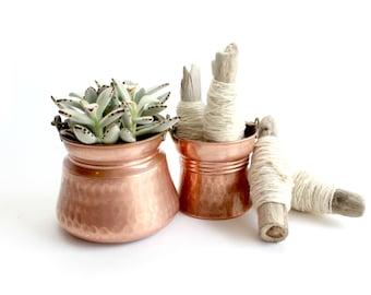 Vintage Copper Buckets, Kitchen Decor, Planters