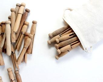 Vintage Clothespins, Craft Supply