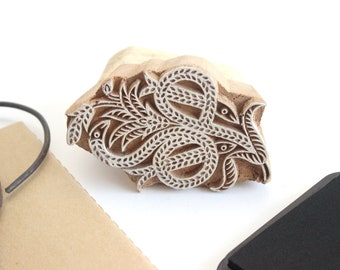 Hand Carved Wooden Stamp, Crafting/Print Making Supply