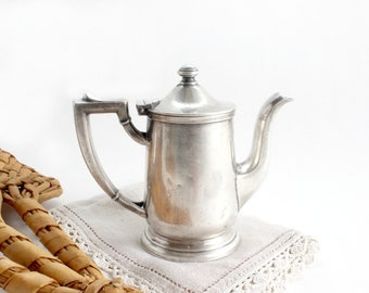 Pewter Teapot, Coffee Pot, International Silver Co.