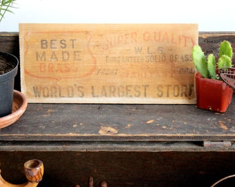 Vintage Wood Sign, Wall Decor, Craft Supply